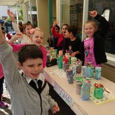 selling jolly jars for Mission Day 2016